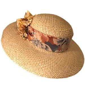 Cappelli Wide Brim Embellished Straw Sun Hat